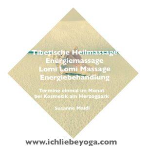 Susanne Maidl - Ich liebe Yoga - Energiebehandlung - Massage